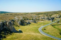 Dobrogea gorges panorama. Panorama landscape of Dobrogea gorges Royalty Free Stock Photography