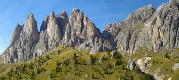 Panorama landscape of dolomite alps Stock Image