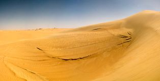 Panorama landscape at Great sand sea around Siwa oasis , Egypt royalty free stock photography