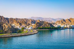 Muscat harbor, Oman, Middle East Royalty Free Stock Photography