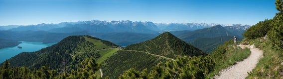Panorama landscape herzogstand mountain Royalty Free Stock Photos