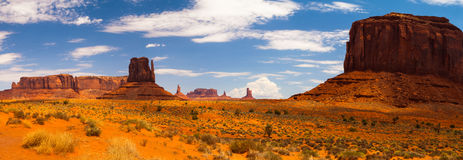Panorama landscape - Iconic peaks of rock formations in the Nava Stock Photography