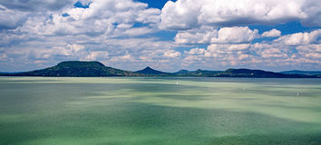 Panorama landscape at Lake Balaton,Hungary Royalty Free Stock Image