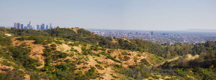 Panorama landscape of Los Angeles Stock Photography