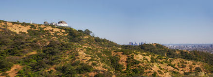 Panorama landscape of Los Angeles Royalty Free Stock Images
