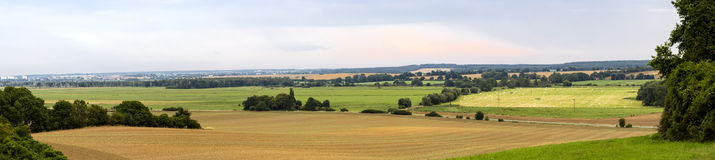 Panorama of a landscape in mecklenburg. Germany Royalty Free Stock Photos