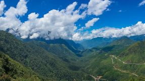 Panorama landscape of mountain valley Royalty Free Stock Photography