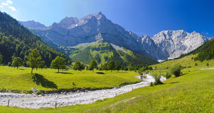 Panorama landscape with mountains  in Bavaria Royalty Free Stock Images