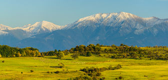 Panorama landscape with mountains Stock Photo