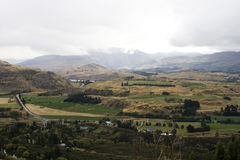 Panorama of landscape in  New Zealand Stock Photography