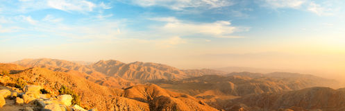 Panorama landscape of North American desert. Royalty Free Stock Images