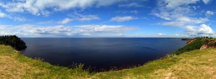 Panorama landscape of Onega lake Royalty Free Stock Photography