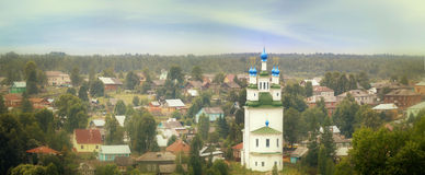 Panorama landscape Orthodox Church Stock Images