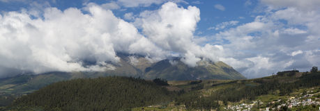 Panorama landscape of Otavalo, Ecuador Royalty Free Stock Photography