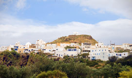 Panorama landscape Plaka Milos Greek Island Royalty Free Stock Images