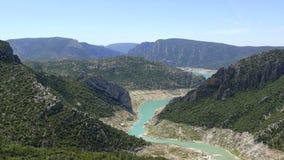 Panorama landscape of river Noguera Ribagorçana Stock Images