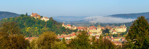 Panorama landscape with sighisoara Royalty Free Stock Images