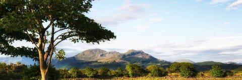 Panorama landscape Snowdonia mountain range Royalty Free Stock Image