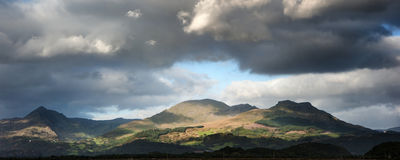 Panorama landscape Snowdonia National Park Wales United Kingdom Royalty Free Stock Images