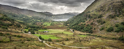 Panorama landscape Snowdonia National Park Royalty Free Stock Images