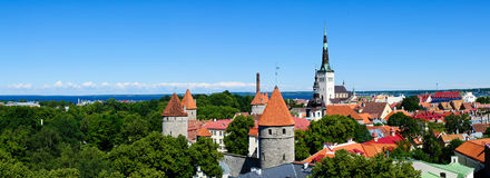 Tallinn panorama royalty free stock photography