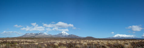 Panorama Landscape Tongariro National Park, New Zealand Royalty Free Stock Photos