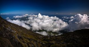Panorama landscape from the top of Pico volcano at hiking, azores, Portugal. Panorama landscape from the top of Pico volcano at hiking at azores, Portugal Royalty Free Stock Photo