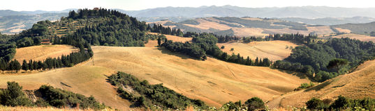 Panorama landscape in Tuscany. Panorama landscape in Tuscany in summer Royalty Free Stock Photos