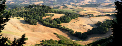 Panorama landscape in Tuscany. Panorama landscape in Tuscany in summer Royalty Free Stock Photography