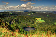 A Panorama landscape view over black forest Germany Royalty Free Stock Images