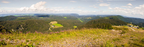A Panorama landscape view over black forest Germany Stock Photography