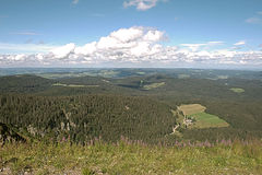 Panorama landscape view over black forest Germany. Royalty Free Stock Photography