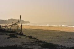Panorama landscape view of sea beach in sunset MUMBAI, MAHARASTRA, INDIA royalty free stock photo