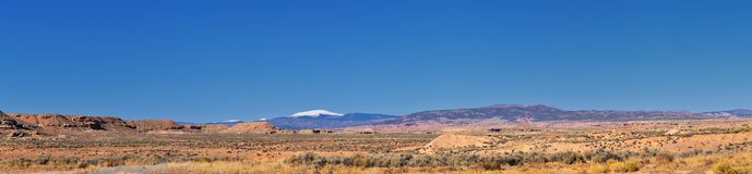 Panorama Landscapes views from Road to Flaming Gorge National Recreation Area and Reservoir driving north from Vernal on US Highwa. Y 191, in the Uinta Basin royalty free stock images