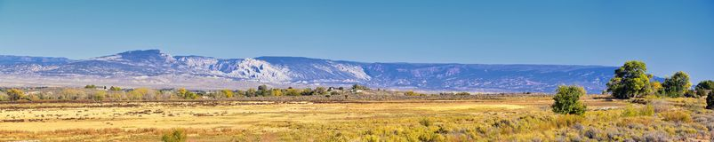 Panorama Landscapes views from Road to Flaming Gorge National Recreation Area and Reservoir driving north from Vernal on US Highwa. Y 191, in the Uinta Basin royalty free stock image