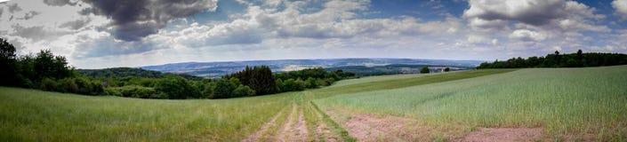 Panorama Landschaft Eifel Ausblick lizenzfreie stockfotos