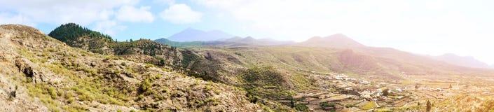 Panorama- landskap av höglandet i Tenerife Royaltyfri Foto