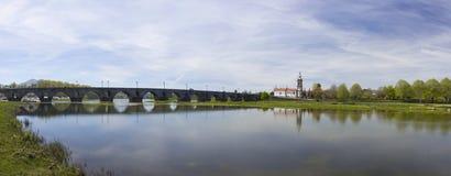 Panorama- landskap för Ponte de Lima _ Arkivfoton