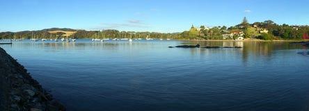 Panorama- landskapsikt av den Mangonui norra delen av ett land Nya Zeeland Fotografering för Bildbyråer