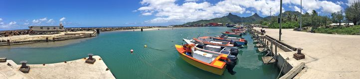 Panorama- landskapsikt av i Rarotonga, kock Islands Arkivbild
