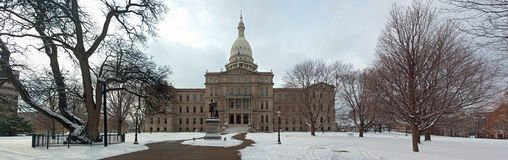 Panorama of Lansing Capitol Building Royalty Free Stock Image
