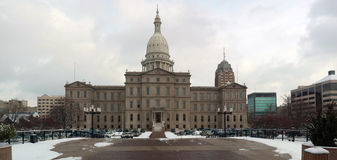 Panorama of Lansing Capitol Building Stock Photos
