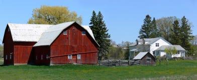 panorama- lantgård arkivbilder