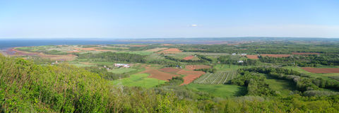panorama- lantligt Arkivbilder