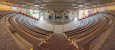 Panorama of large amphitheatre Stock Photography