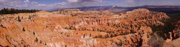 Panorama, late afternoon light colors the sandstone pinnacles Royalty Free Stock Photo