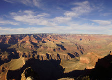 Panorama, late afternoon view into the Colorado River gorge Stock Photography