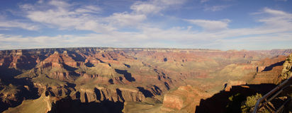 Panorama, Late Afternoon View Into The Colorado River Gorge Stock Images