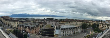 Panorama of Lausanne, Switzerland Stock Photos