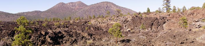 Panorama, Lava flow Stock Images